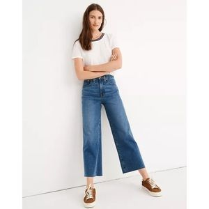 Madewell Slim Wide Leg Crop High Rise Jeans 24